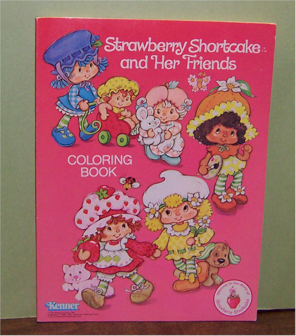 Strawberry shortcake berry house strawberry shortcake and her friends coloring book no coloring or writing in the book american greeting 1981 mint condition item sscolor 12 m4hsunfo