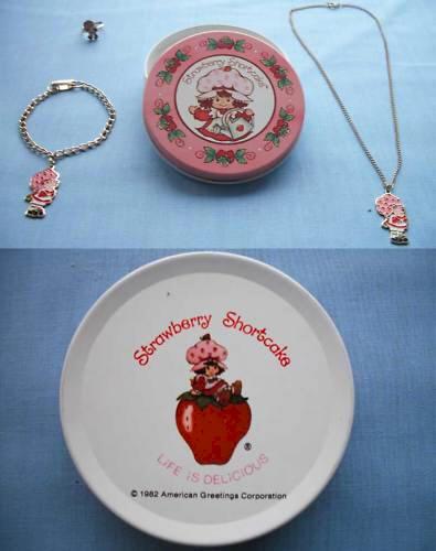 Strawberry shortcake jewelry for Strawberry shortcake necklace jewelry