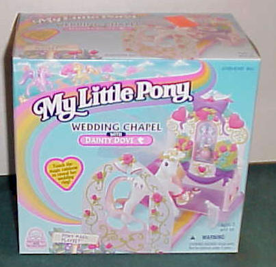 My Little Pony Wedding Chapel With Dainty Dove 1997 Hasbro Inc Mint In Box Sealed On Both Ends Item Pony02 Price 25 Sold